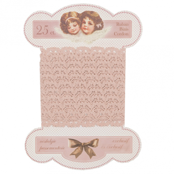 Ruban dentelle shabby pink XL - 3, 26 m