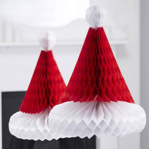 Decoration noel d corations papier bonnet no l - Deco noel papier ...