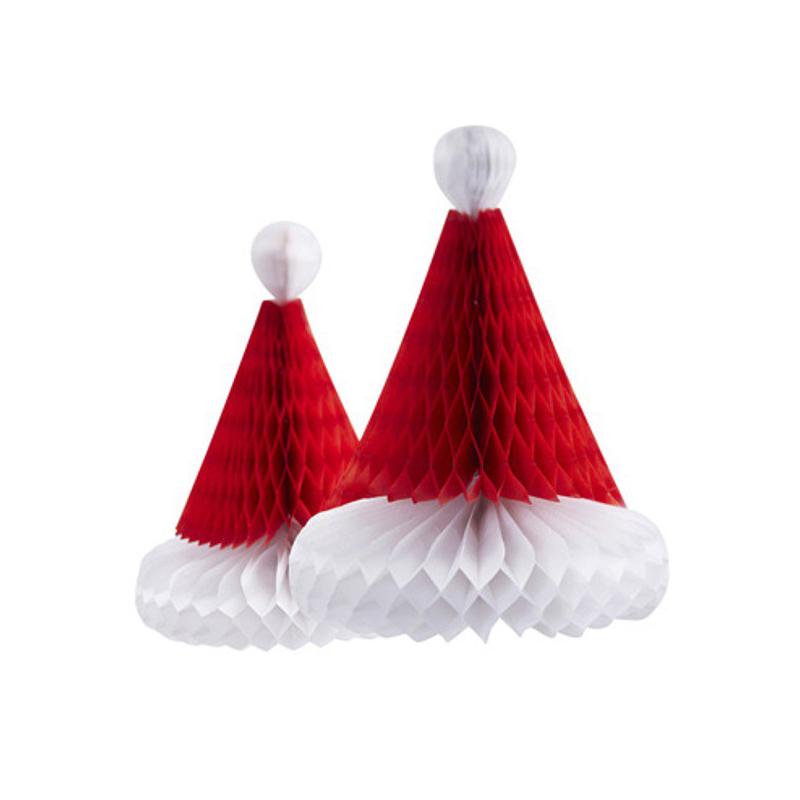 decoration noel d corations papier bonnet no l. Black Bedroom Furniture Sets. Home Design Ideas