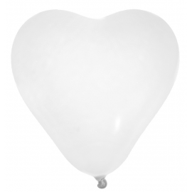 Ballons coeur blanc - Lot de 8
