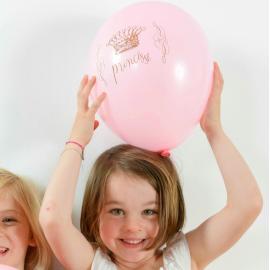 Ballons roses princesse - Lot de 8