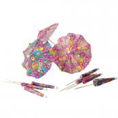 Ombrelles papier flower ice cream - Lot de 10