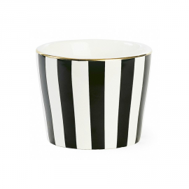 Pot porcelaine rayures noires filet