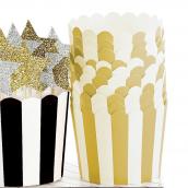 Caissettes cupcake rayures or - Lot de 24