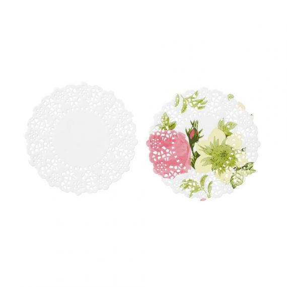 Mini napperons duo romance - Lot de 100