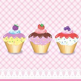 Serviettes papier sweet cupcakes - Lot de 20