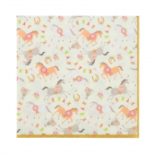 Serviettes papier poney liberty - Lot de 20
