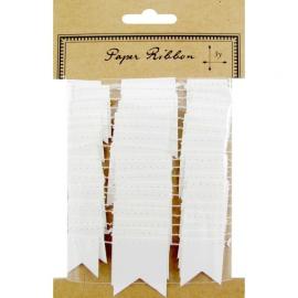 Guirlande mini-fanions blancs