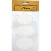 Etiquettes dentelle blanche - Lot de 12