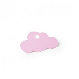 Etiquettes nuage rose - Lot de 24
