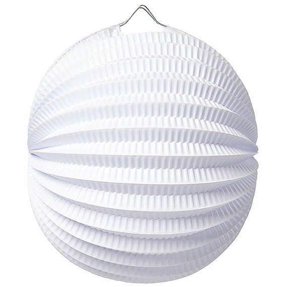 Lampion accordéon rond blanc