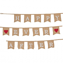 Guirlande rétro jute Happy ever after