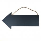 Pancarte flèche ardoise bois