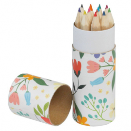 Set mini crayons couleurs Happy Flowers - Lot de 12