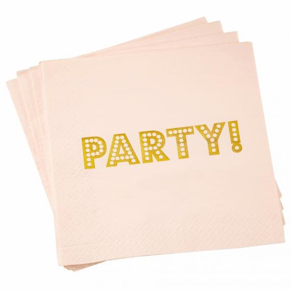 Serviettes papier party rose so chic - Lot de 20