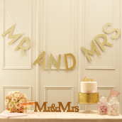 Guirlande Mr & Mrs glitter so chic