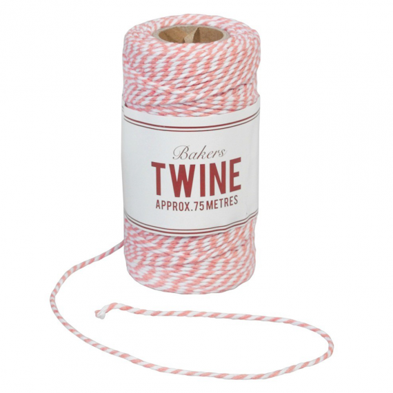 "Ficelle ""bakers twine"" rose et blanc"