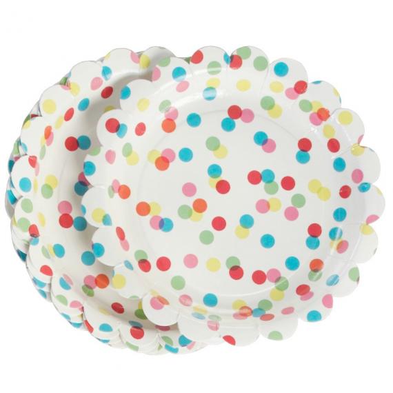 Assiettes color confettis