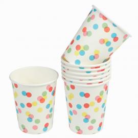Gobelets color confettis