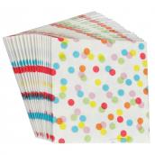 Serviettes papier color confettis - Lot de 20