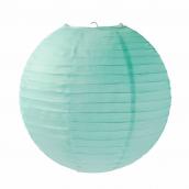 Lanterne papier unie menthe