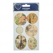 Stickers Paris rétro - Set de 12