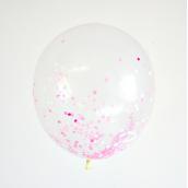 Ballons confettis mix roses - Lot de 6