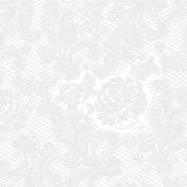 Serviettes papier dentelle perle - Lot de 15
