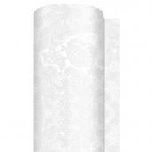 Chemin de table papier dentelle perle - 6 m