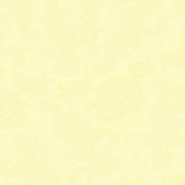 Serviettes papier dentelle jaune - Lot de 15