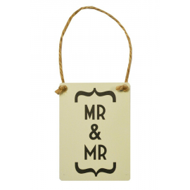 Mr and Mr pancarte decorative
