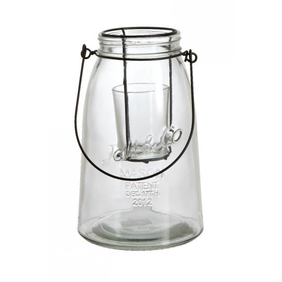 Photophore lanterne trapèze Mason clear