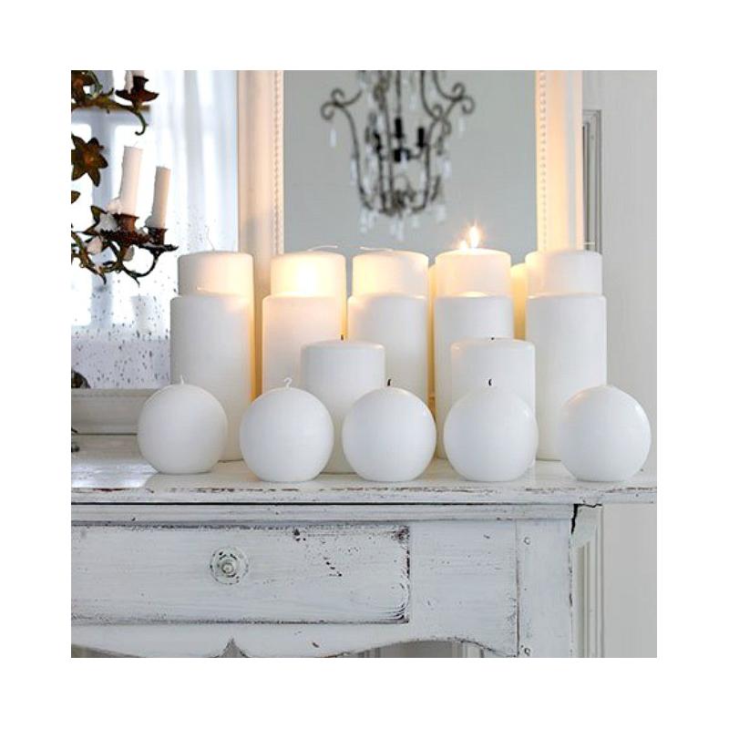 decoration de table bougie bloc blanche. Black Bedroom Furniture Sets. Home Design Ideas