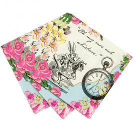 Serviettes papier So Alice - Lot de 20
