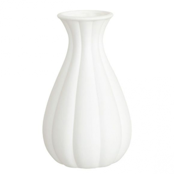 Vase céramique biscuit cannelé