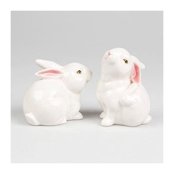 Duo Lapins porcelaine