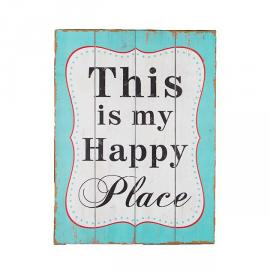 Panneau bois Happy place