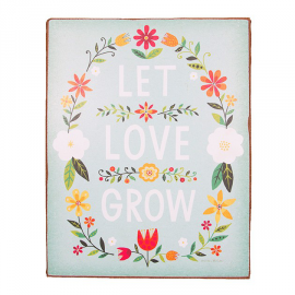 Panneau trendy flower let love