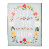Panneau trendy flower let love