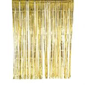 Backdrop rideau franges or