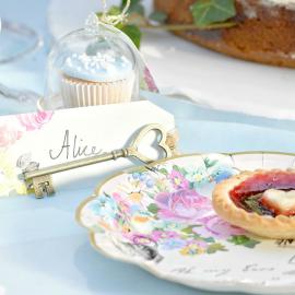 Etiquettes marque-place & clés So Alice - Lot 6