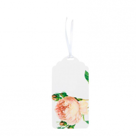 Etiquettes marque-place shabby roses - Lot 12