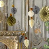 Décorations boules et pampilles glitter