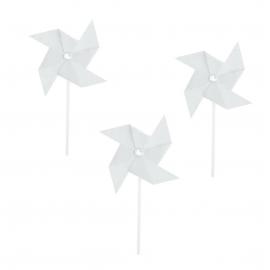 Mini moulin à vent blanc - Lot de 4