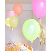 Ballons happy mix néon - Lot de 12