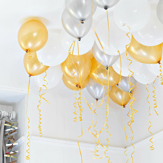 Ballons irisés chic party - Lot de 30