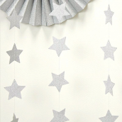 Guirlande étoiles glam argent so chic