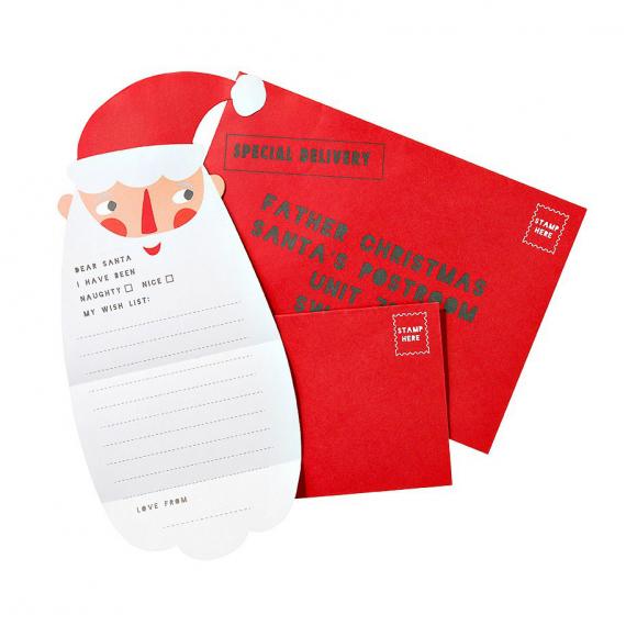 Set lettre et enveloppes Père Noël