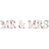 Mots fleurs romantiques Mr & Mrs