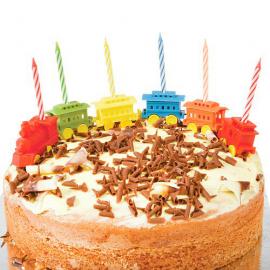 Bougies anniversaires petit train - Lot de 6